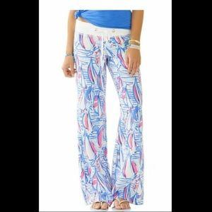Lilly Pulitzer Girls XL Sailboat Beach Pants